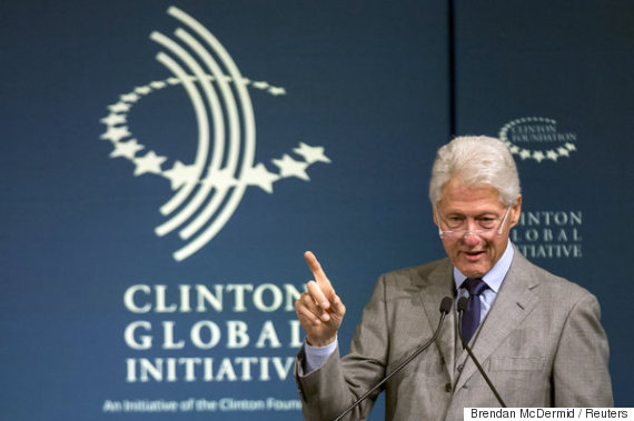 Former U.S. President Bill Clinton speaks during the Clinton Global Initiative's 2015 Winter Meeting in New York February 10, 2015. Unilever, Acumen and the Clinton Giustra Enterprise Partnership, an initiative of the Clinton Foundation, launched the Enhanced Livelihoods Investment Initiative (ELII) to support and bring smallholder farmers in developing countries into global markets.  REUTERS/Brendan McDermid (UNITED STATES - Tags: POLITICS BUSINESS)