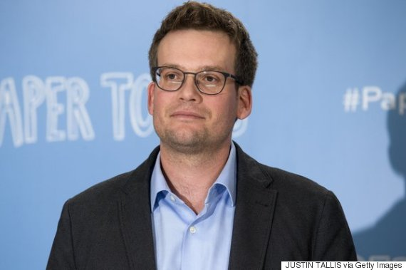 "US author John Green poses at a photo call for the film ""Paper Towns"" in central London on June 18, 2015.      AFP PHOTO / JUSTIN TALLIS        (Photo credit should read JUSTIN TALLIS/AFP/Getty Images)"