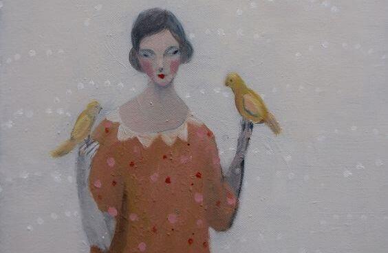 mulher-pássaros